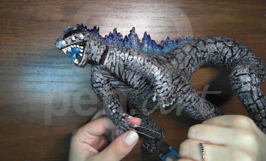Годзилла 3D ручкой. Делаем когти