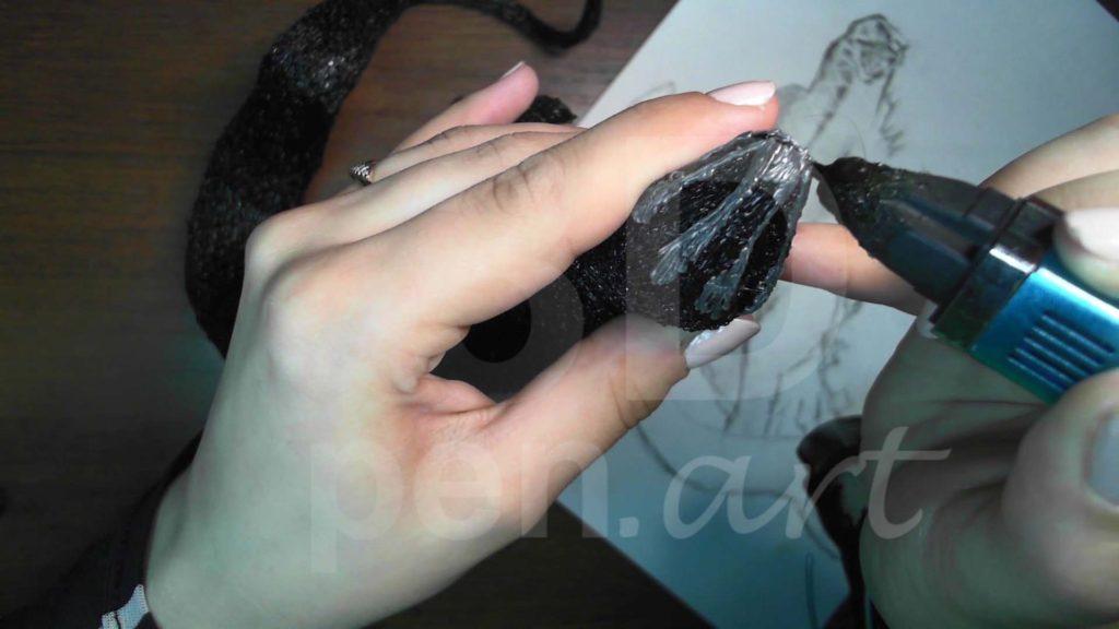 Годзилла 3D ручкой. Детализация лица