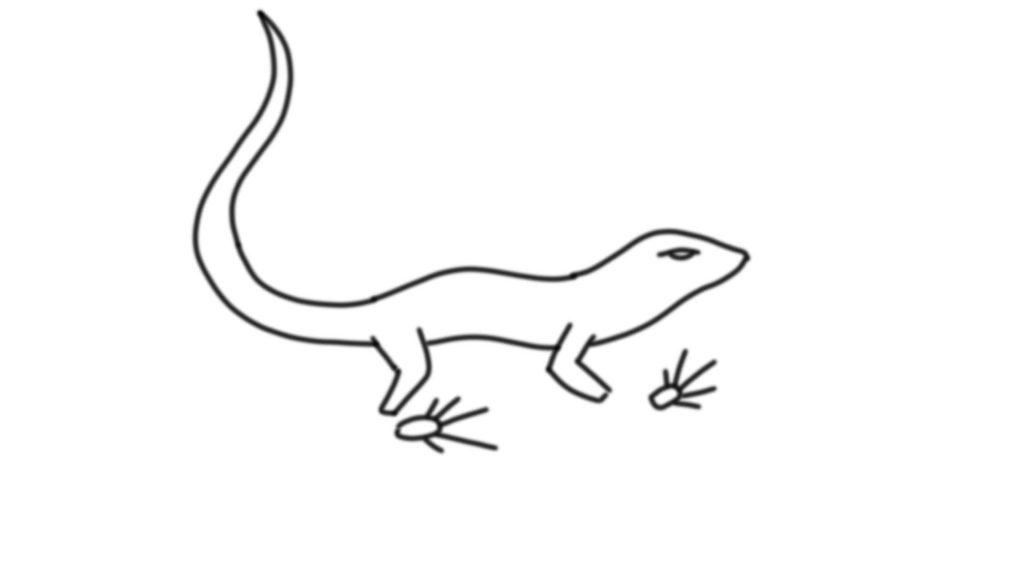 Эскиз ящерицы для 3D ручки