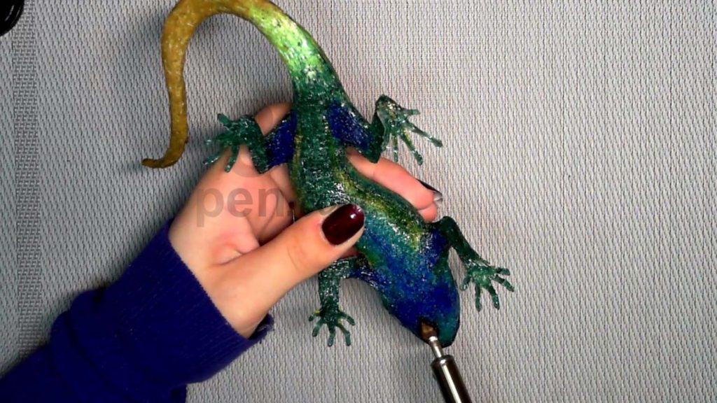 Ящерица 3D ручкой. Работа паяльником