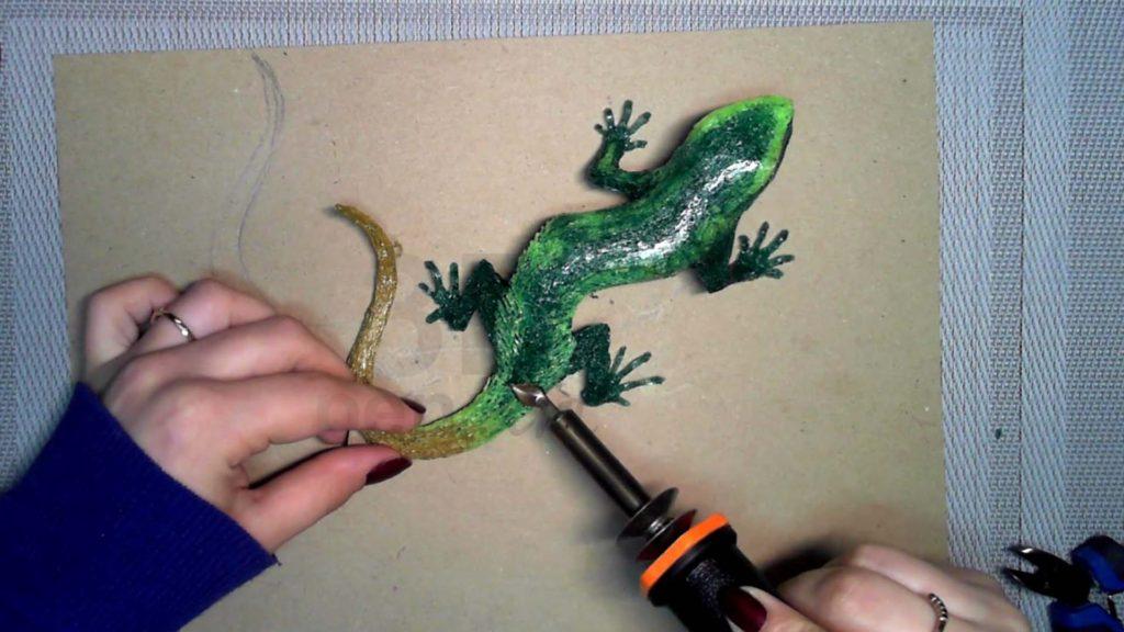 Ящерица 3D ручкой. Сглаживание переходов