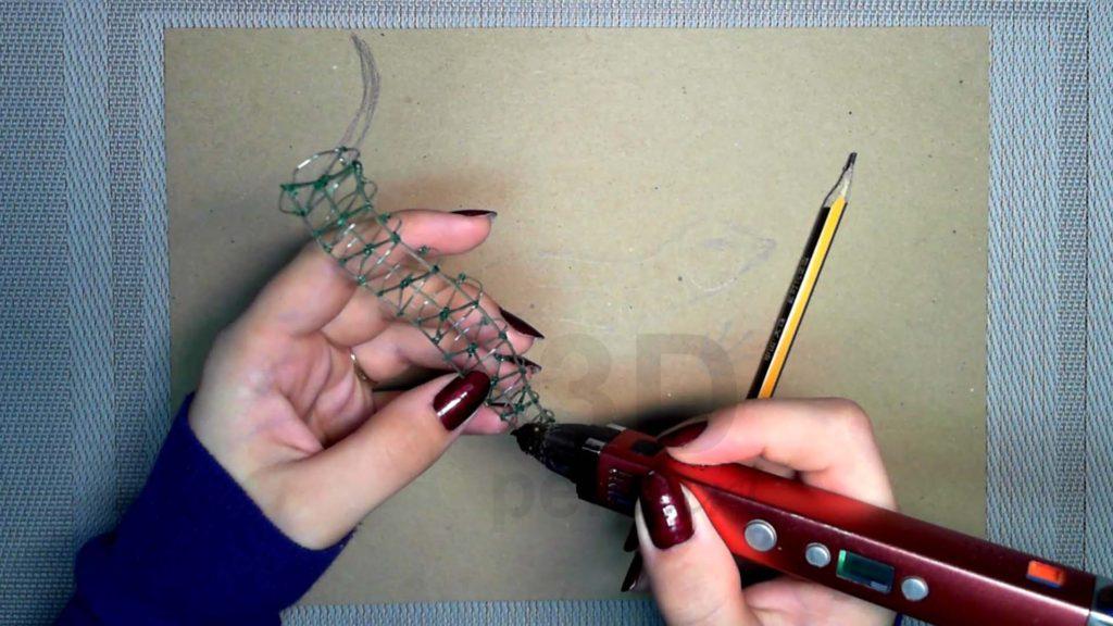 Ящерица 3D ручкой. Создание каркаса тела