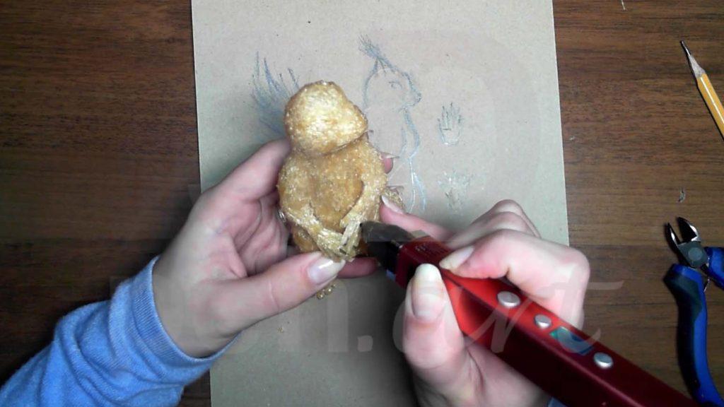 Белка 3D ручкой. Делаем кисти