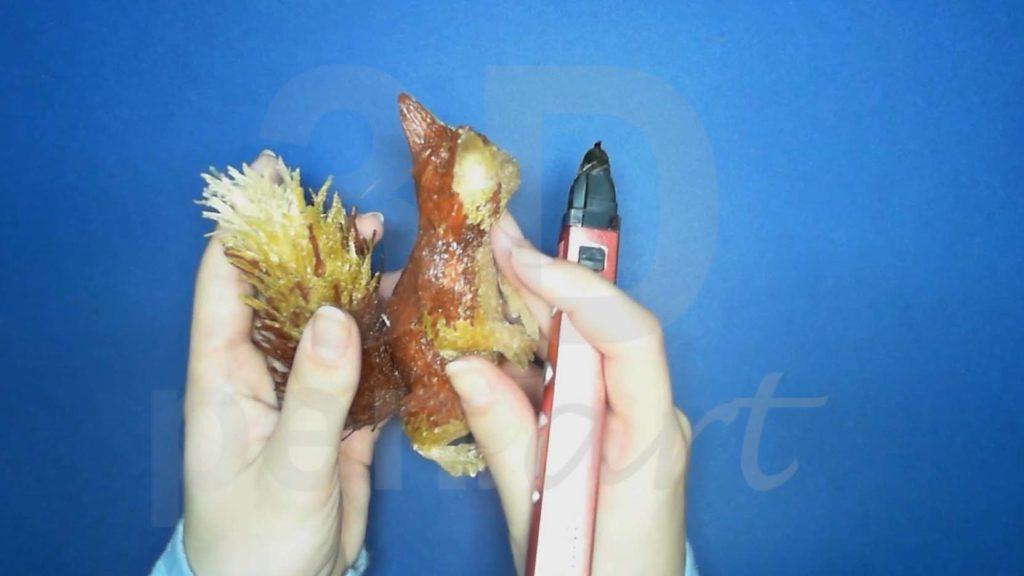 Белка 3D ручкой. Присоединяем хвост