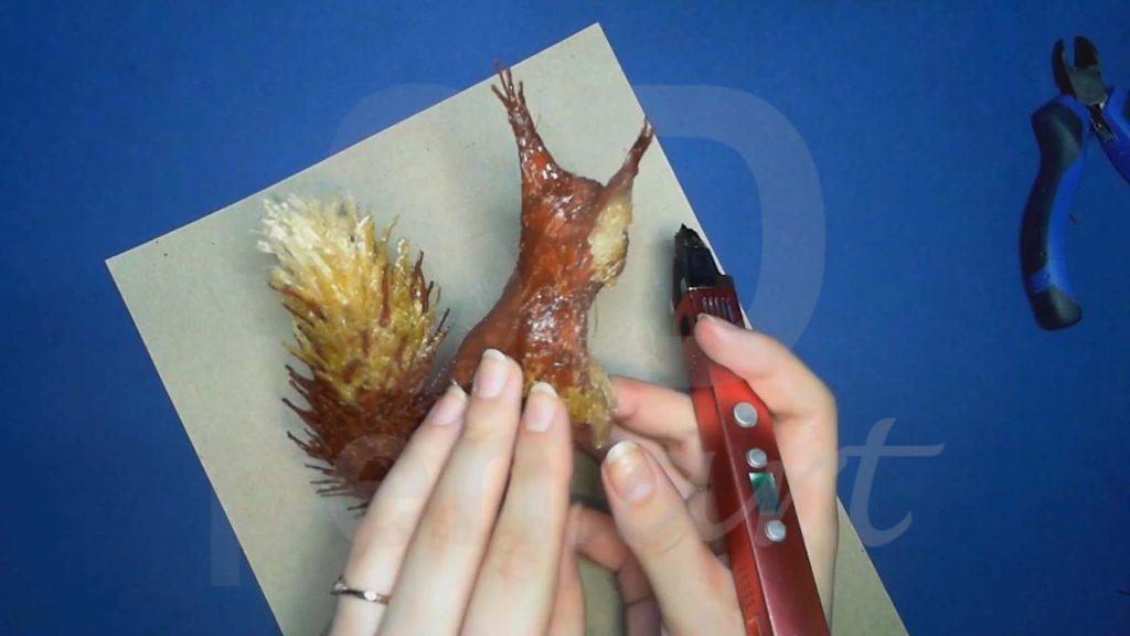 Белка 3D ручкой.. Присоединяем кисточки