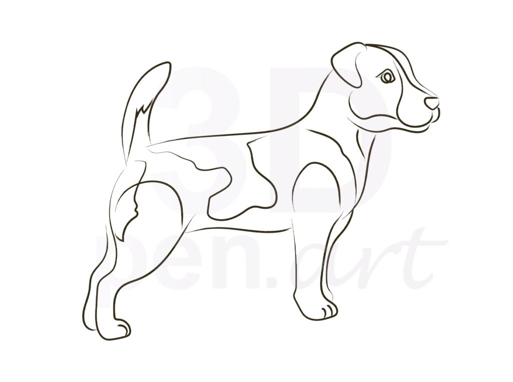 Собака 3D ручкой. Эскиз