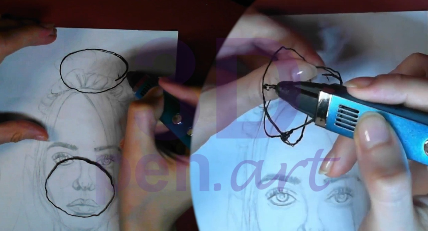Билли Айлиш 3D ручкой. Делаем объёмный пучок