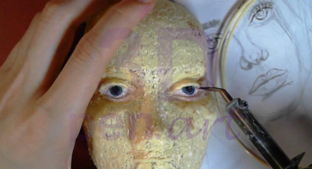 Билли Айлиш 3D ручкой. Детализация век с помощью паяльника