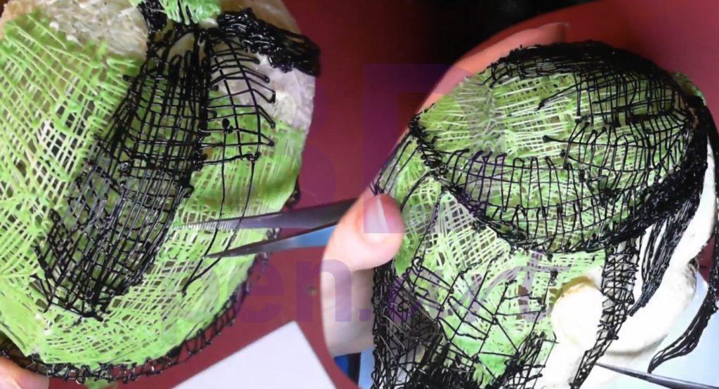 Билли Айлиш 3D ручкой. Как сделать эффект собранных волос