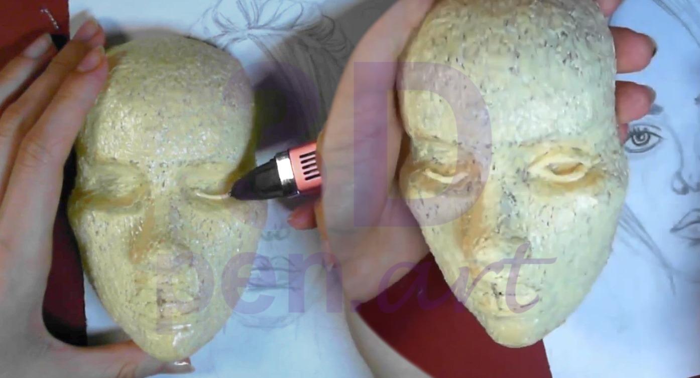 Билли Айлиш 3D ручкой. Конструируем веки