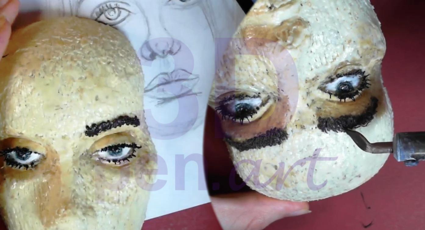 Билли Айлиш 3D ручкой. Моделируем брови