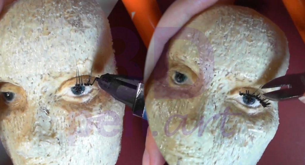 Билли Айлиш 3D ручкой. Моделируем ресницы