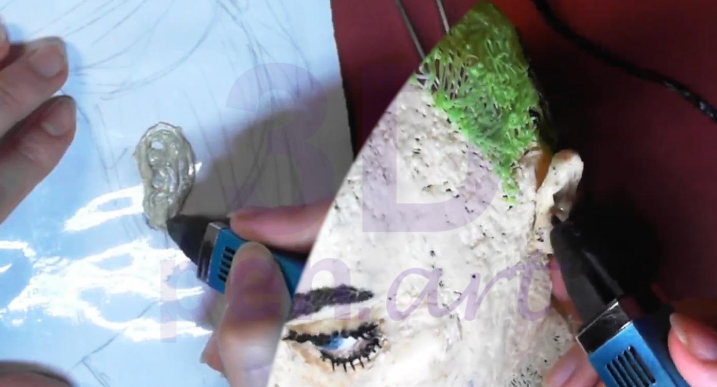 Билли Айлиш 3D ручкой. Моделируем уши