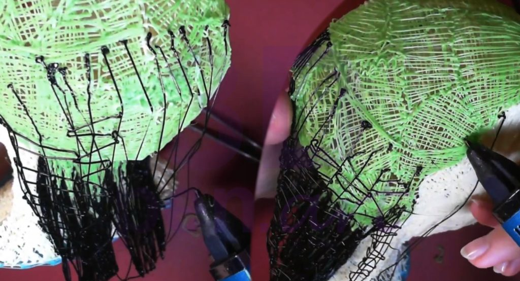 Билли Айлиш 3D ручкой. Моделируем шапку волос