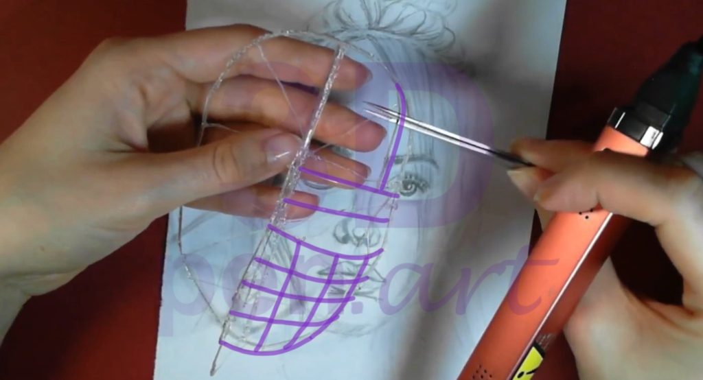 Билли Айлиш 3D ручкой. Объёмное наполнение лица