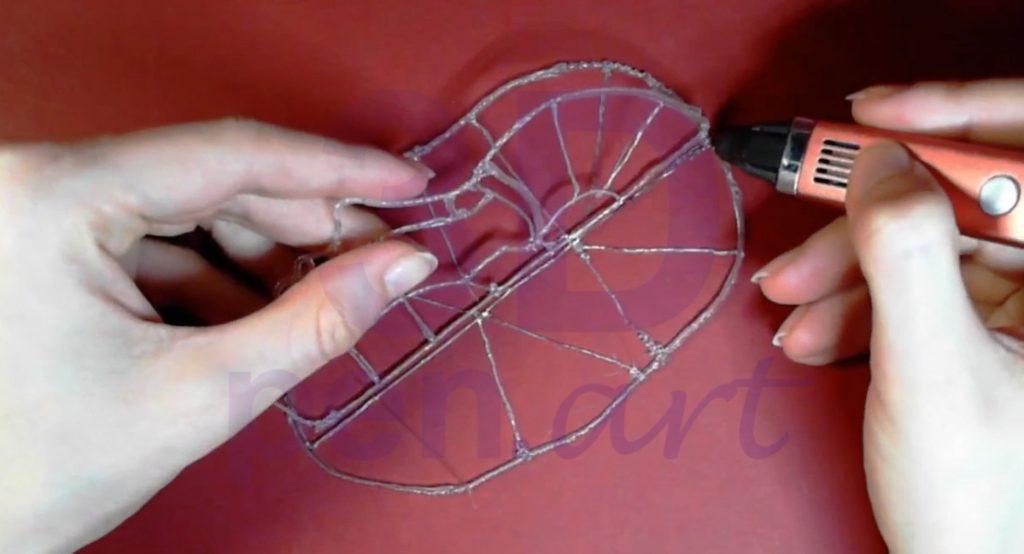 Билли Айлиш 3D ручкой. Соединение оснований лица