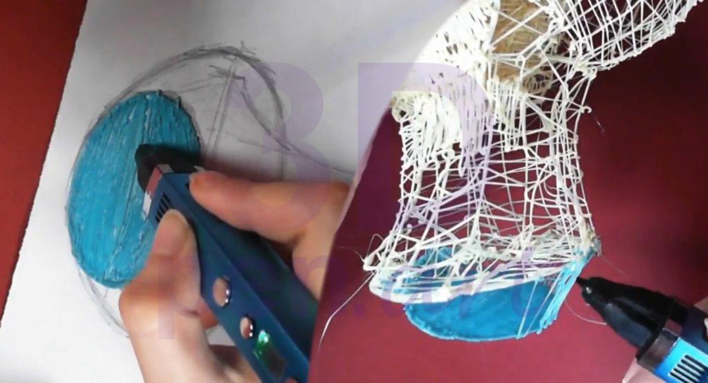 Билли Айлиш 3D ручкой. Строим подставку для головы