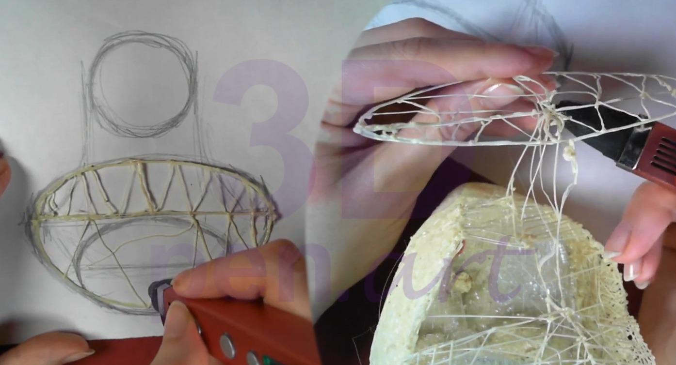 Билли Айлиш 3D ручкой. Строим шею