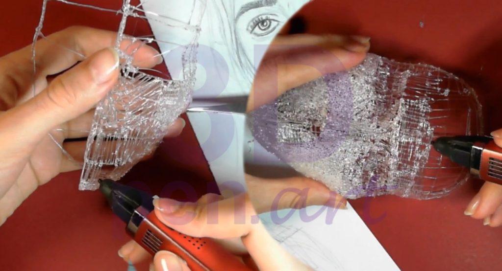 Билли Айлиш 3D ручкой. Черновая штриховка лица