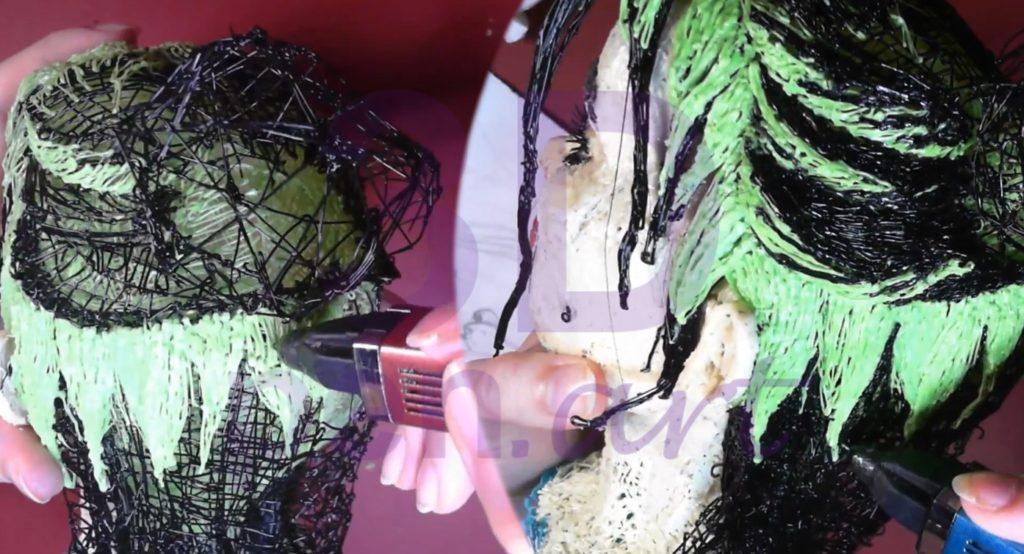 Билли Айлиш 3D ручкой. Штриховка волос