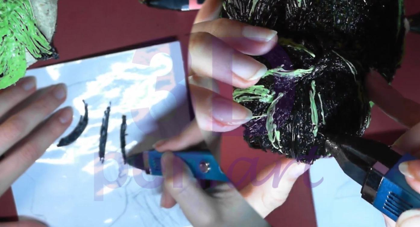 Билли Айлиш 3D ручкой. Эффект выбивающихся волос