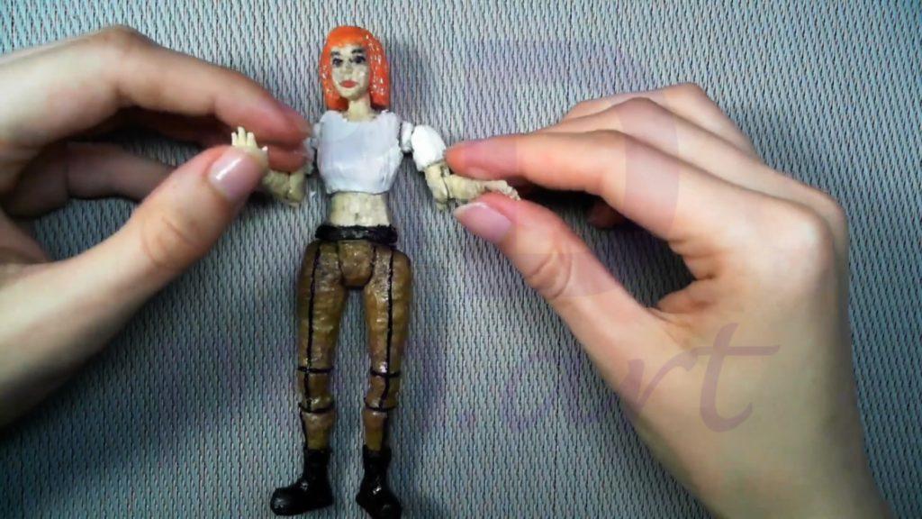 Лилу подвижная кукла 3D ручкой. Поделка готова