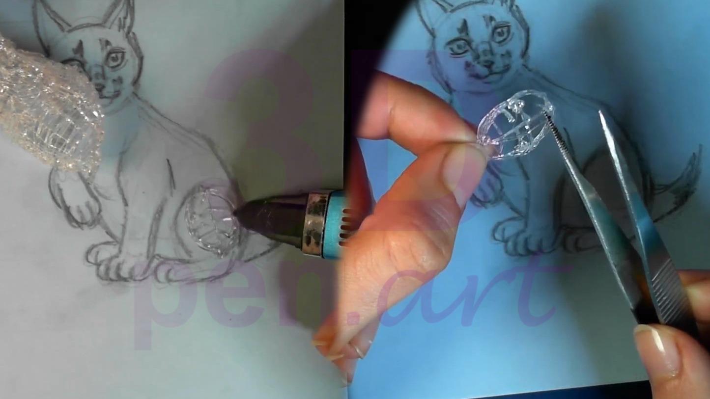 Рысь 3D ручкой. Задние лапы