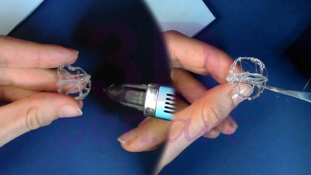 Рысь 3D ручкой. Каркас головы. Наполнение объёмом