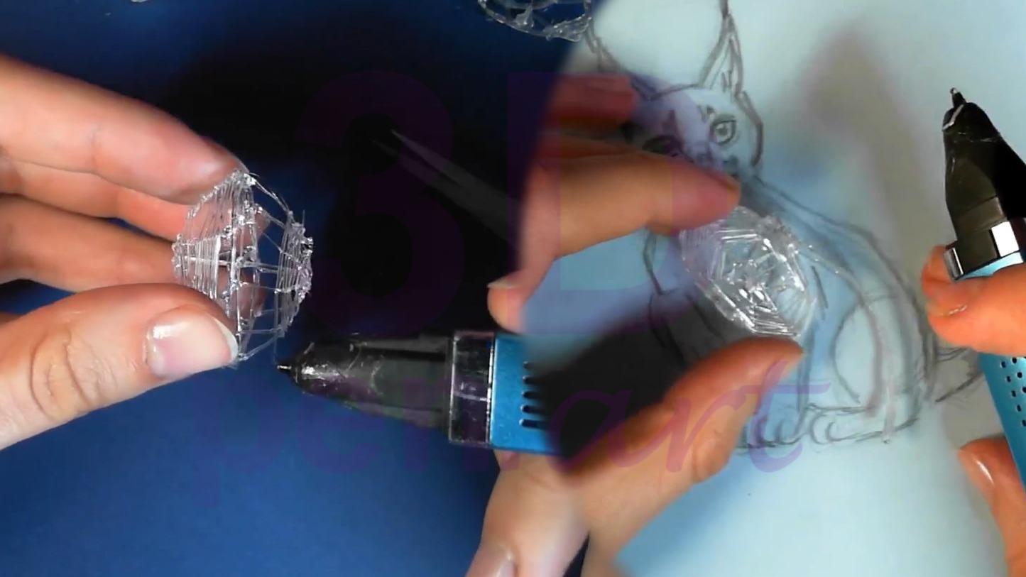 Рысь 3D ручкой. Соединяем грудную клетку и позвоночник
