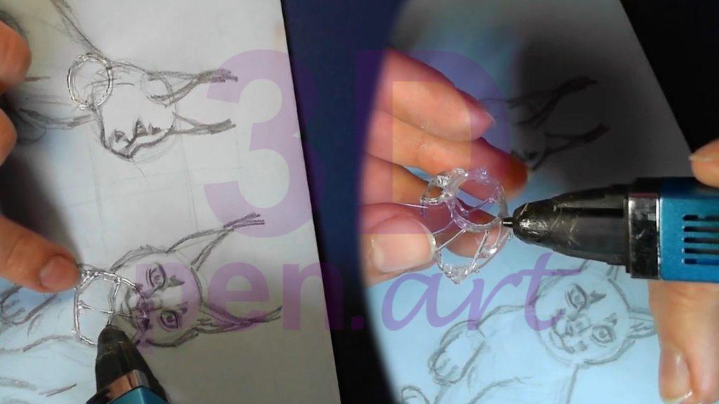 Рысь 3D ручкой. Шея