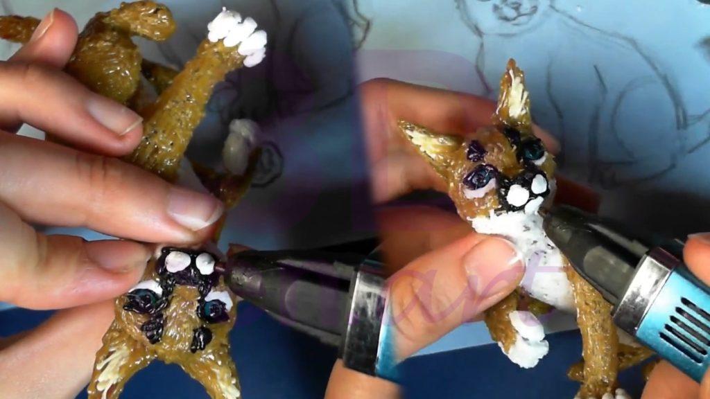 Рысь 3D ручкой. Щёки и рот