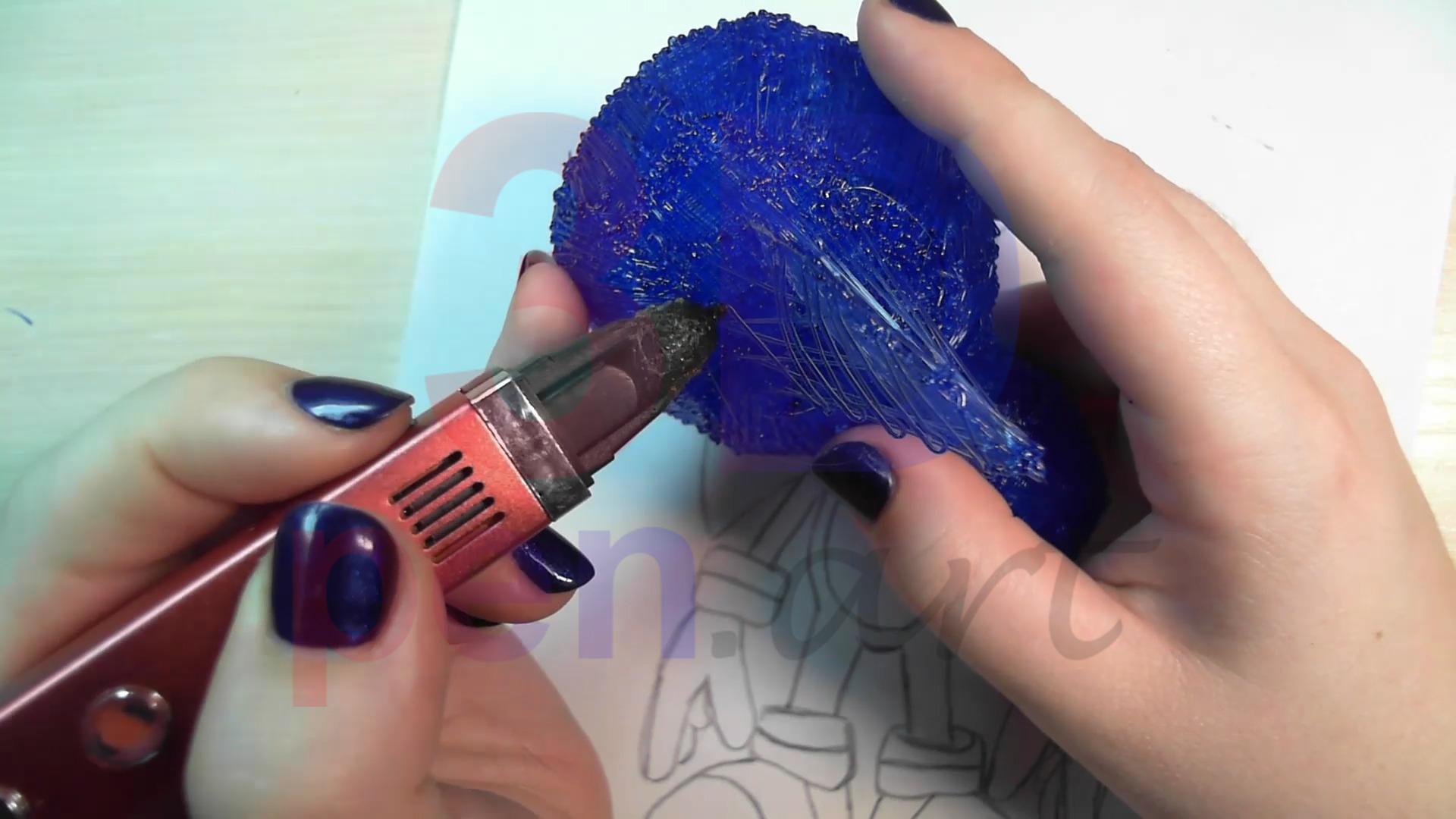 Соник 3D ручкой. Моделируем объём иголок