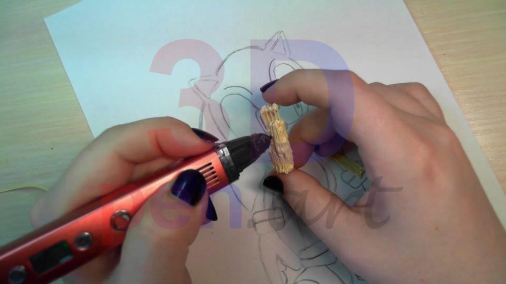 Соник 3D ручкой. Наращиваем объём на руках