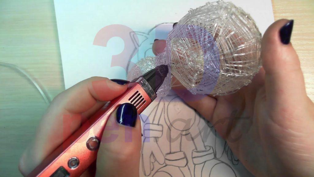 Соник 3D ручкой. Соединяем голову и туловище