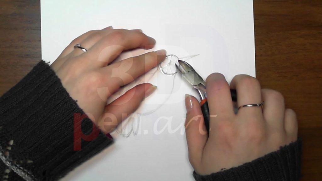 Колибри 3D ручкой. Каркас головы