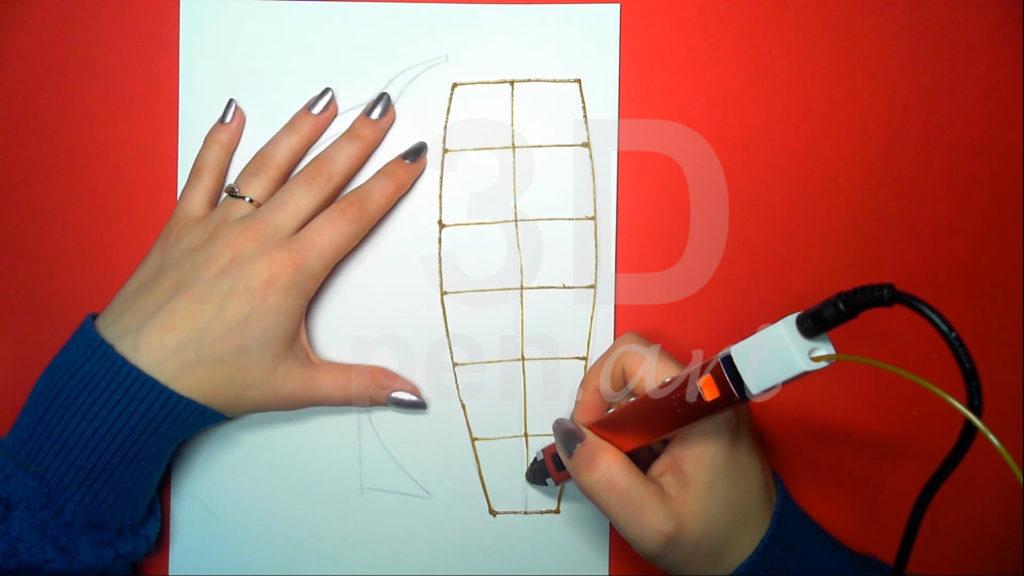 Корабль 3D ручкой. Рисуем контур палубы