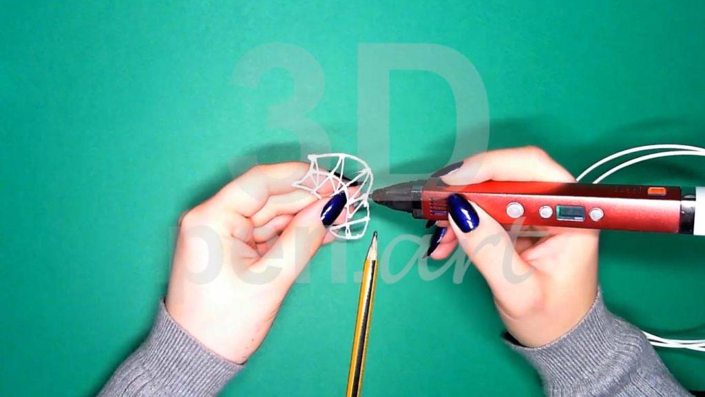 Хаски 3D ручкой. Каркас тела. Первый этап