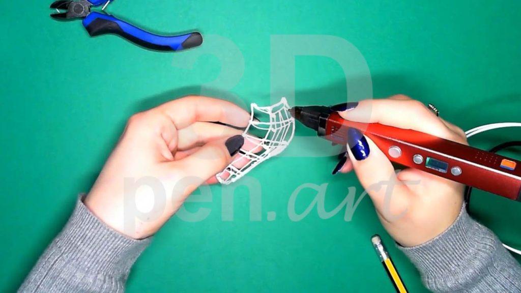 Хаски 3D ручкой. Каркас тела. Второй этап