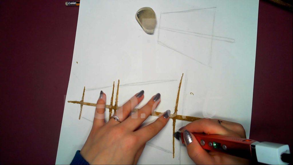 Корабль 3D ручкой. Грот-мачта