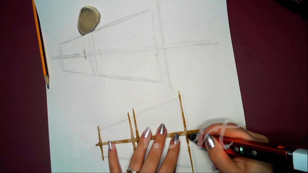Корабль 3D ручкой. Фок-мачта