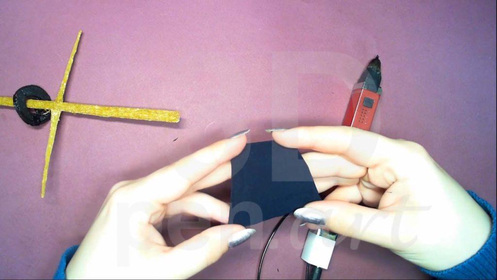 Корабль 3D ручкой. Делаем паруса