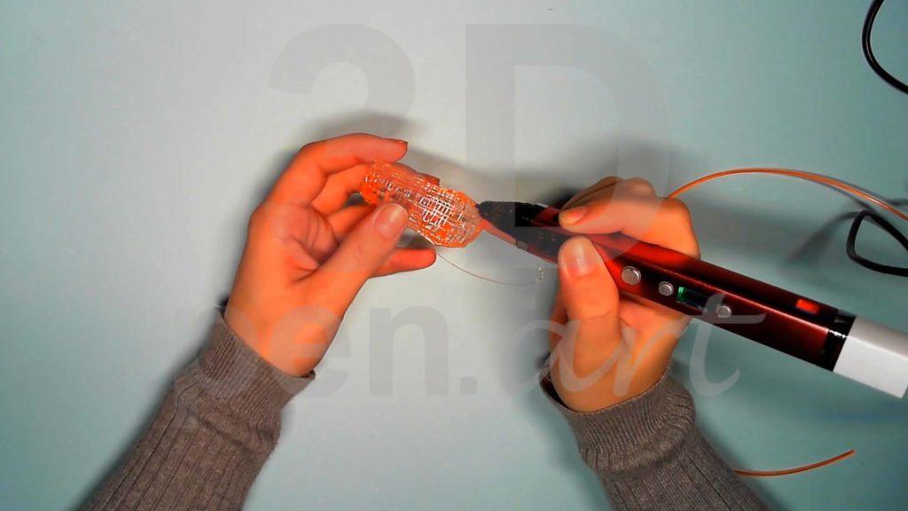 Лисёнок 3D ручкой. Каркас тела