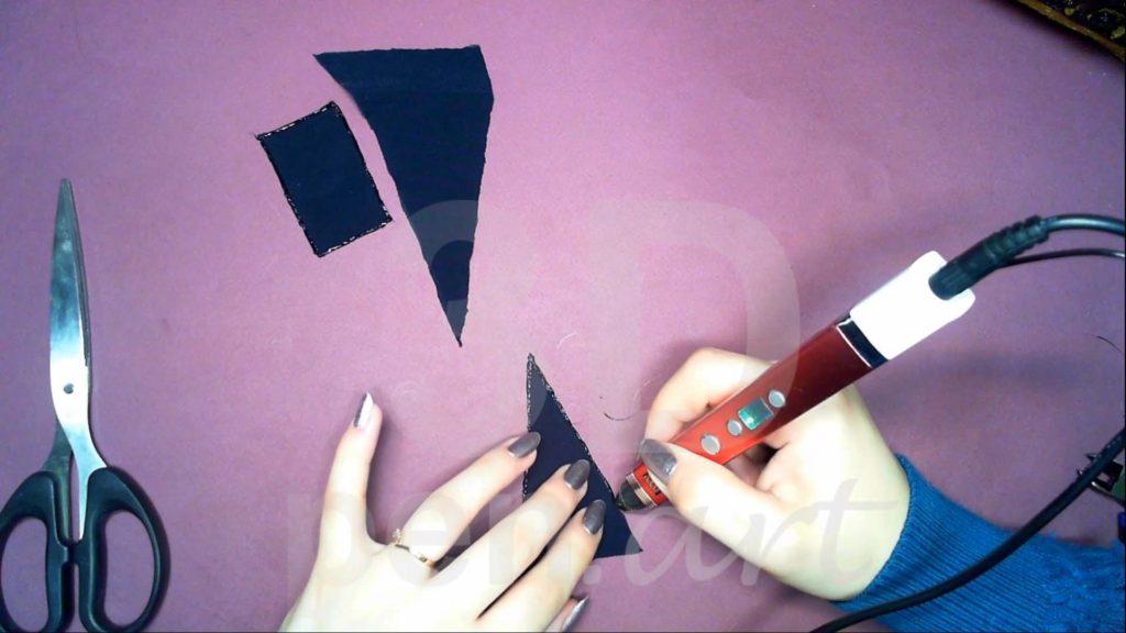 Корабль 3D ручкой. Обработка треугольных парусов