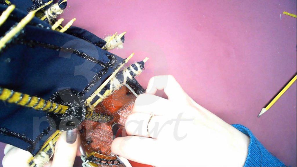 Корабль 3D ручкой. Крепим грот-мачту