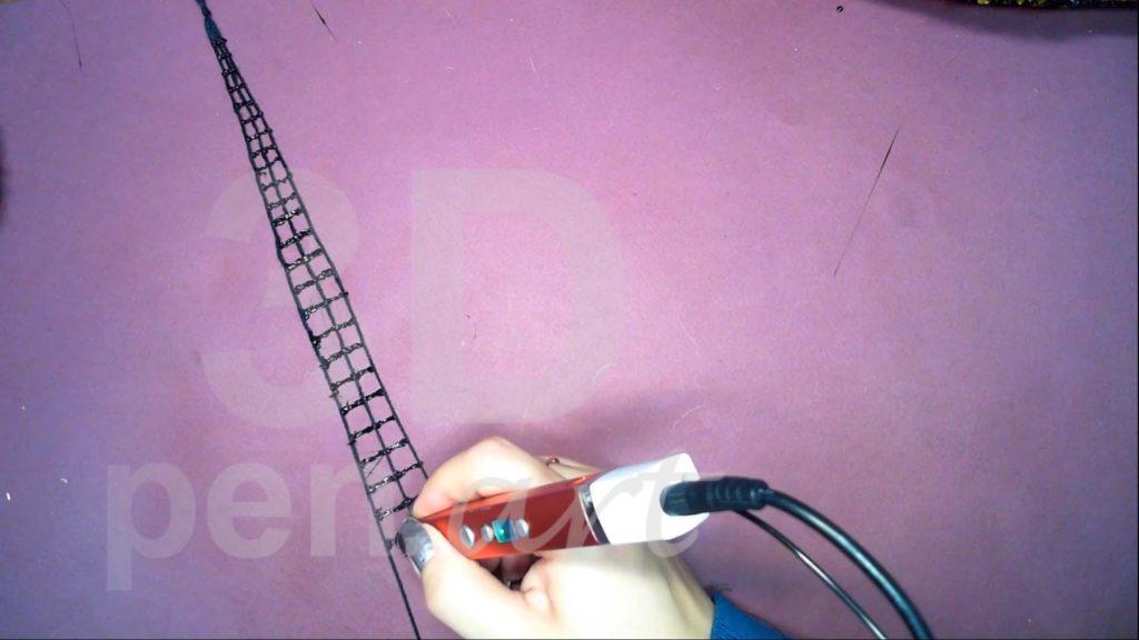 Корабль 3D ручкой. Делаем ванты