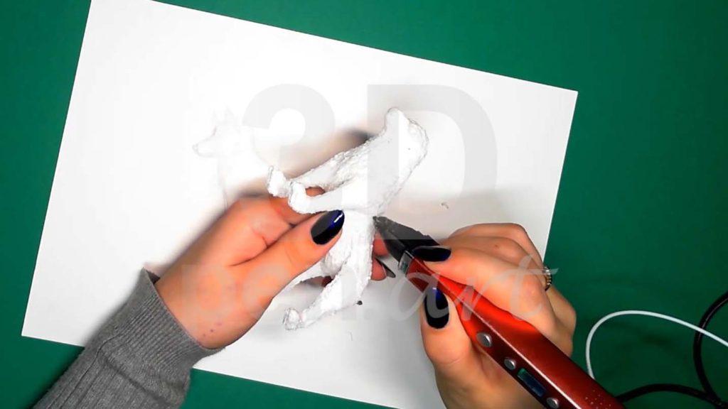 Хаски 3D ручкой. Чистовая штриховка