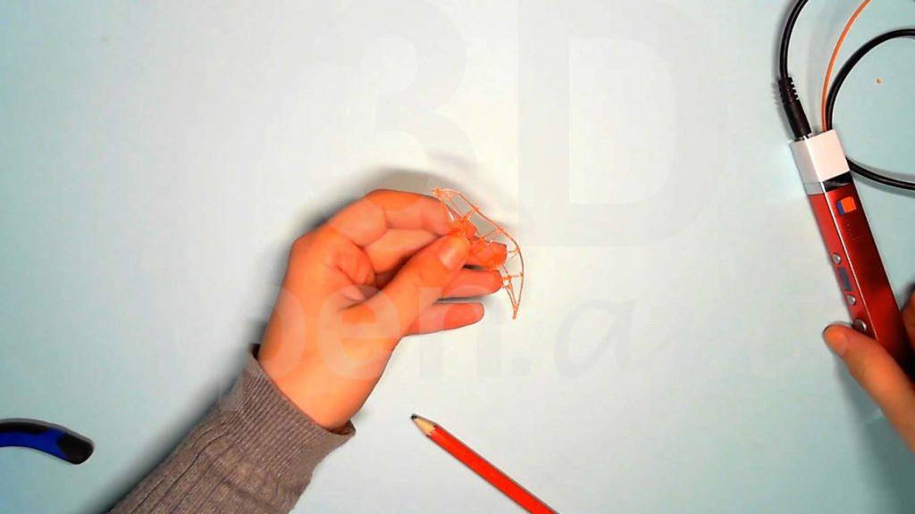 Лисёнок 3D ручкой. Каркас хвоста