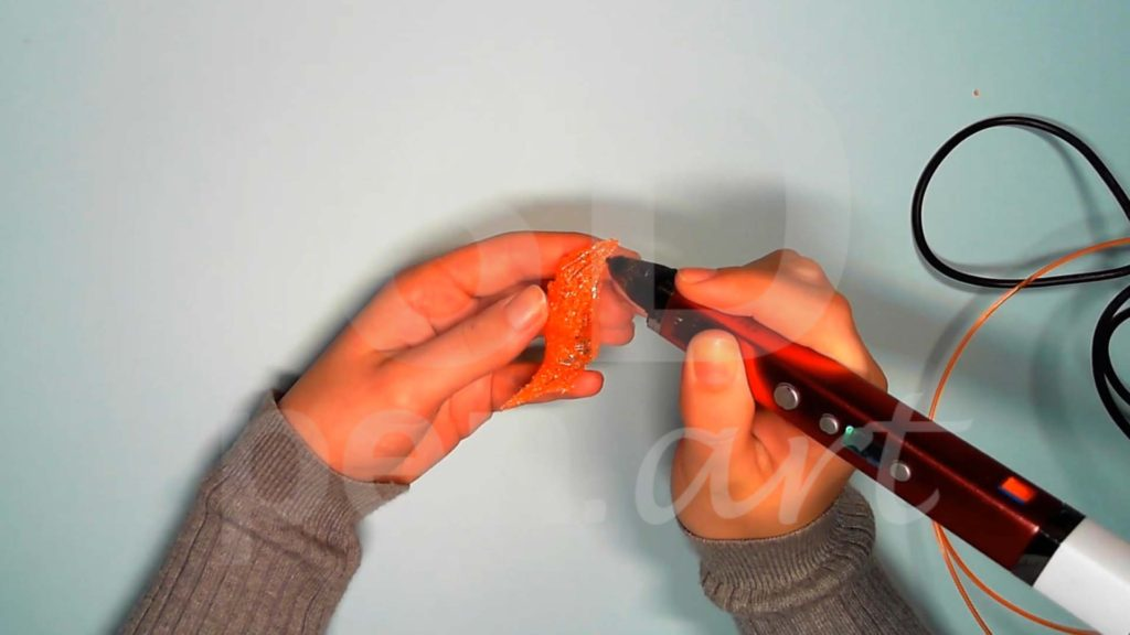 Лисёнок 3D ручкой. Штриховка хвоста