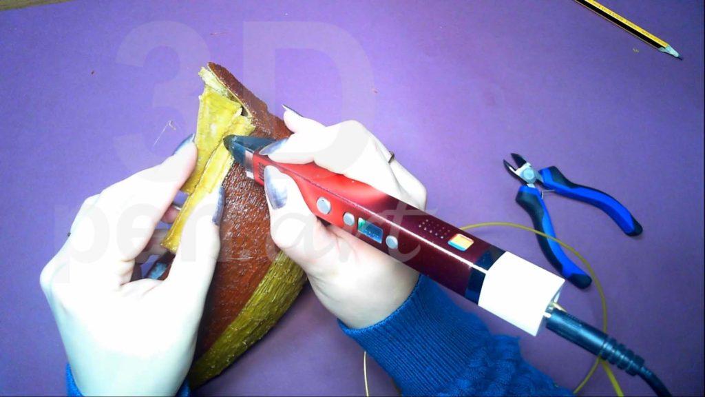 Корабль 3D ручкой. Присоединяем кормовые бортики