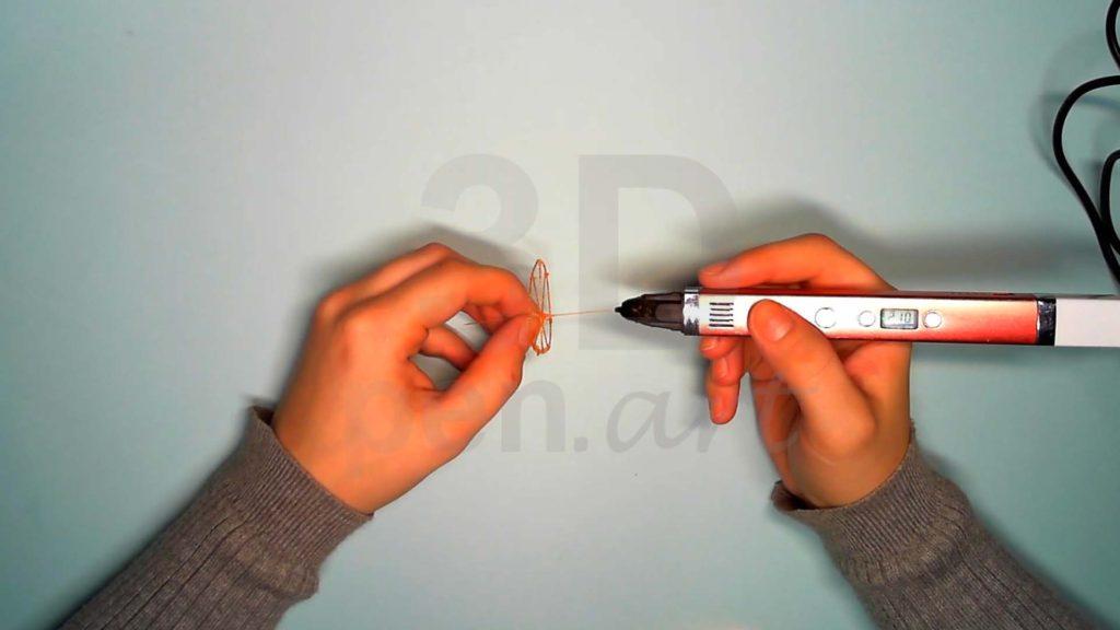 Лисёнок 3D ручкой. Каркас головы